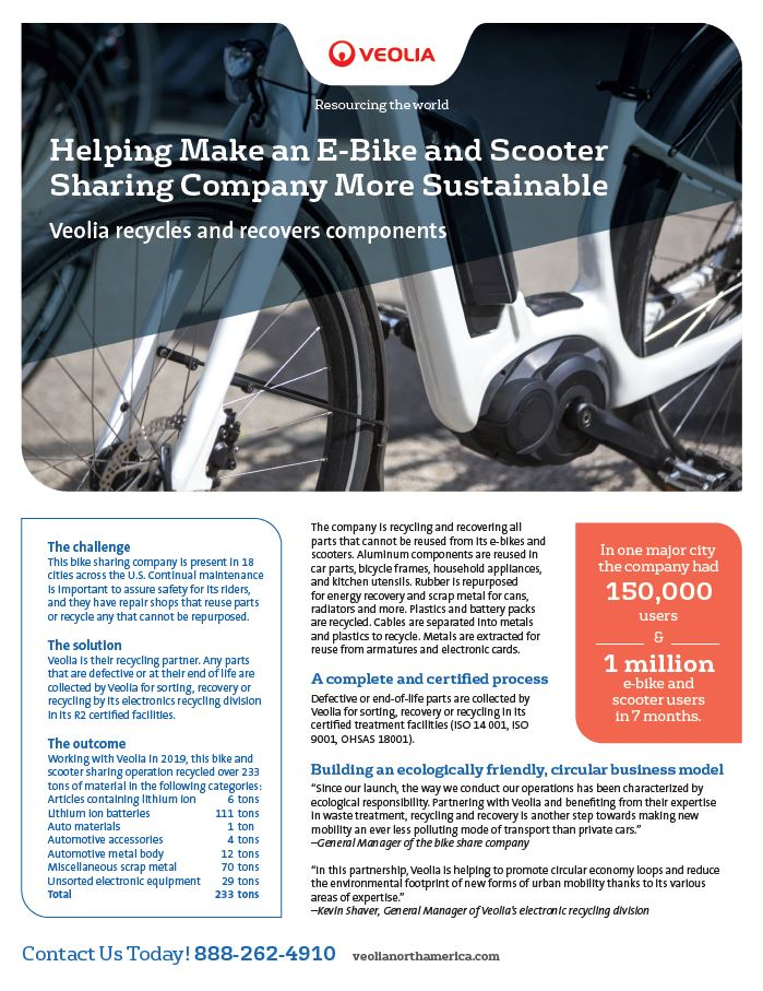 e-bike scooter sharing company sustainability case study