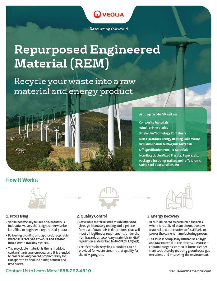 Repurposed engineered material (REM) brochure