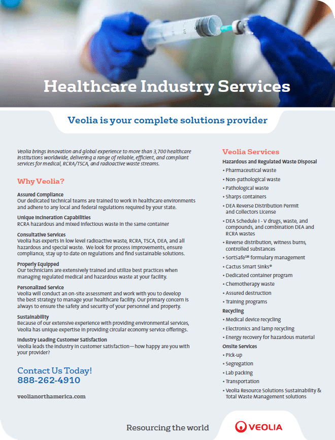 Veolia healthcare industry services brochure