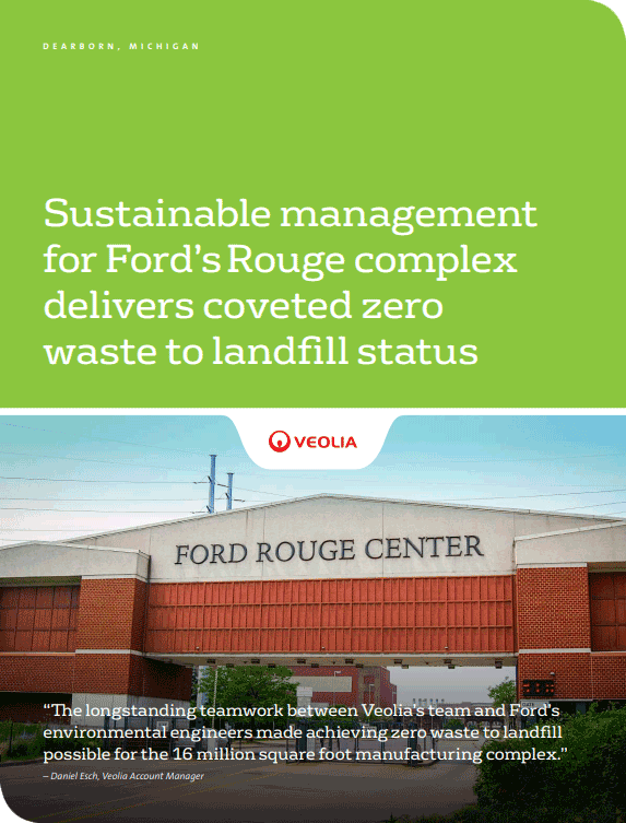 Ford Rouge complex zero waste to landfill case study