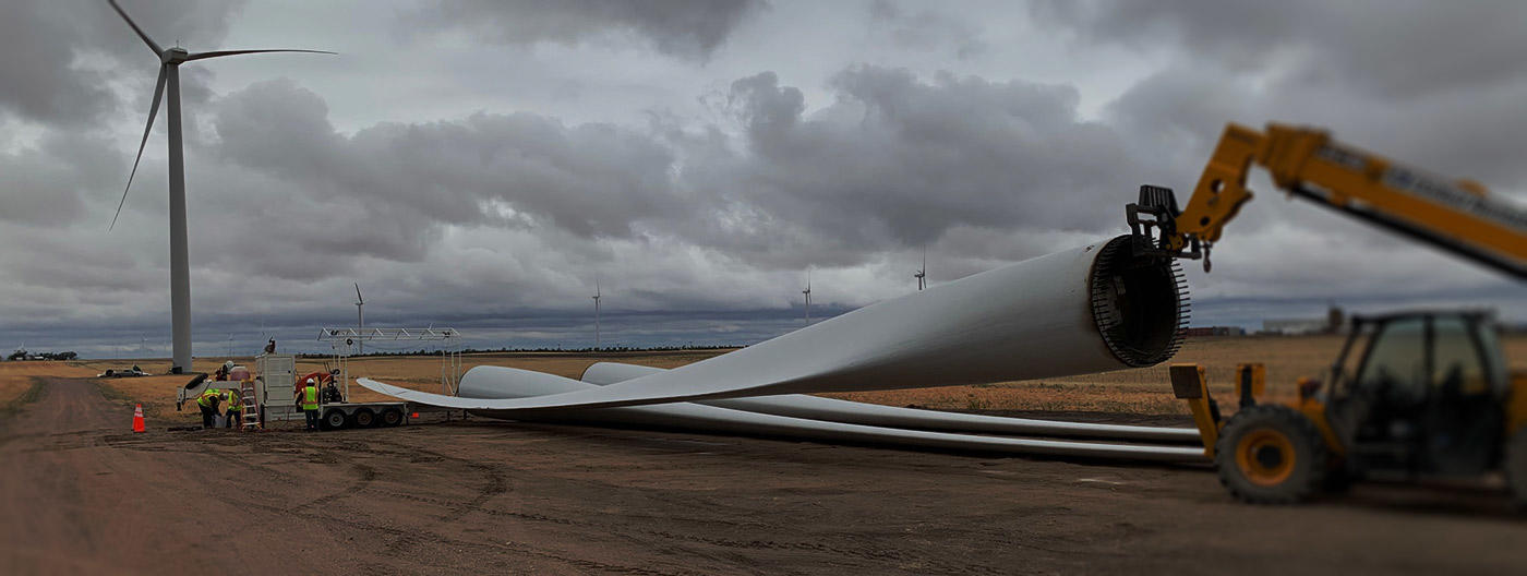 Repurposed engineered materials wind turbine blade recycling