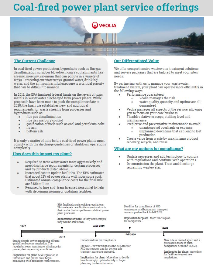 coal fired power plant solutions brochure